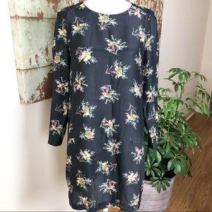 Zara floral silk dress